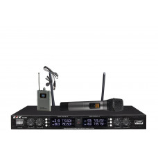 Радиомикрофон clevermic BKR KX-D3840 (два ручных + два петличных)