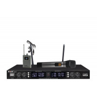 Радиомикрофоны clevermic BKR KX-D3840 (два ручных + два петличных)
